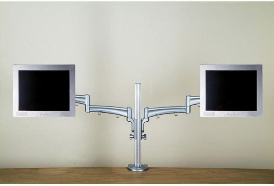 Imagine Suport pentru 2 x monitor LCD VESA 75/100 cu inaltime ajustabila separat, montare masa, Value 17.99.