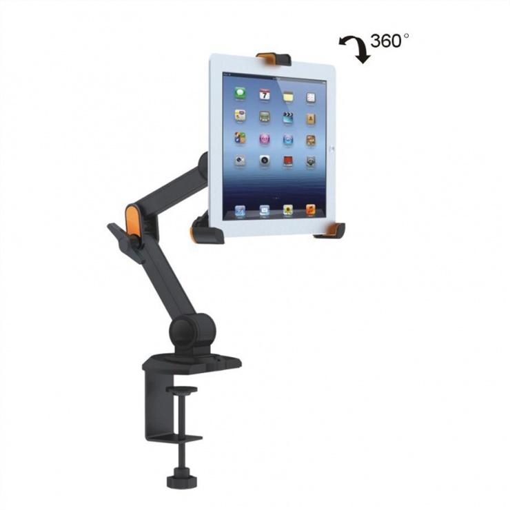 Imagine Suport pentru IPad/Ebook/Samsung Galaxy & Tab cu montare masa, Value 17.99.1151-6