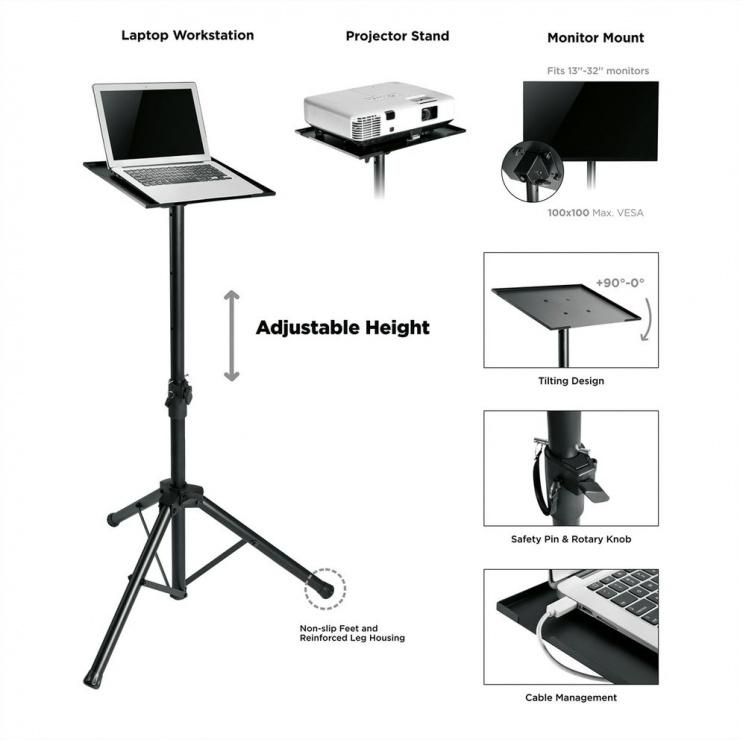 Imagine Stand tripot multifunctional Negru, Value 17.99.1168-2
