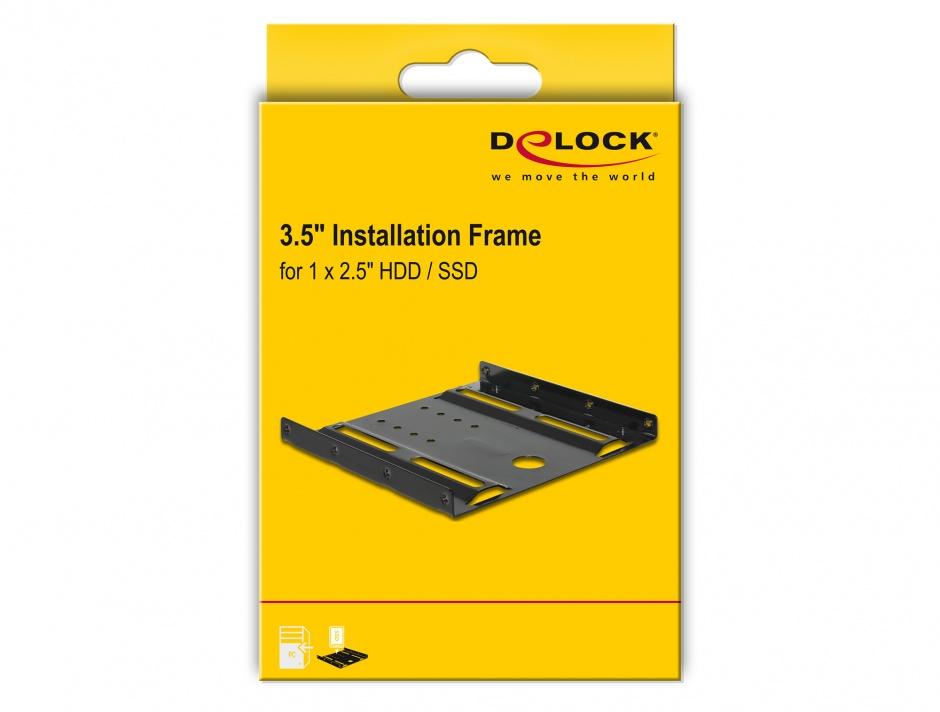 """Imagine Kit Pentru Montare HDD 2.5"""" la 3.5"""", Delock 18205"""