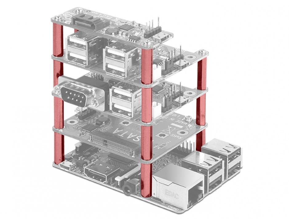 Imagine Kit de montare M2.5 pentru Raspberry Pi 30mm, Delock 18220