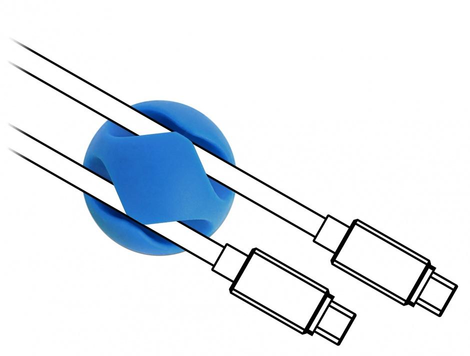 Imagine Set 10 buc ghidaje cablu 2 slot culori asortate, Delock 18296