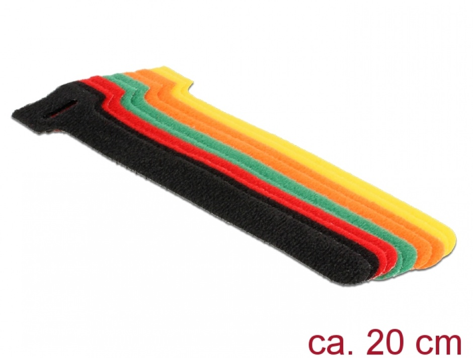 Imagine Curele colorate pentru prindere cabluri 200 mm x 12 mm, Delock 18702