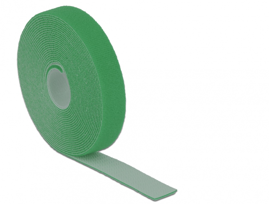 Imagine Rola cu arici verde 5m x 20mm, Delock 18731