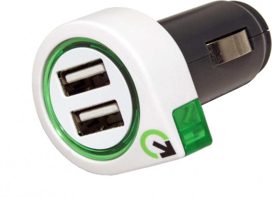 Imagine Incarcator auto cu 2 x USB 2.1A, Q2POWER 19.07.1582
