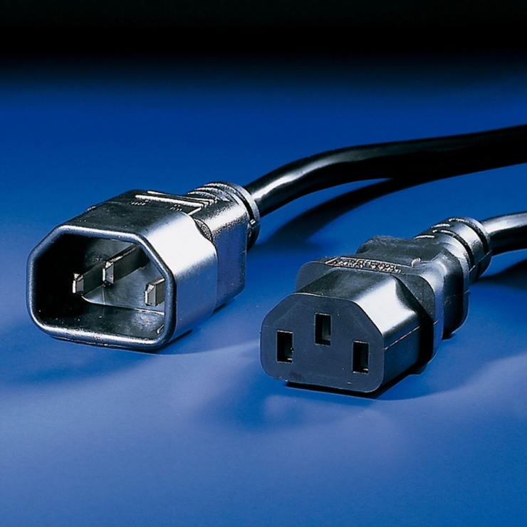 Imagine Cablu prelungitor alimentare PC C13 - C14 10A 0.5m, Value 19.99.1505-2