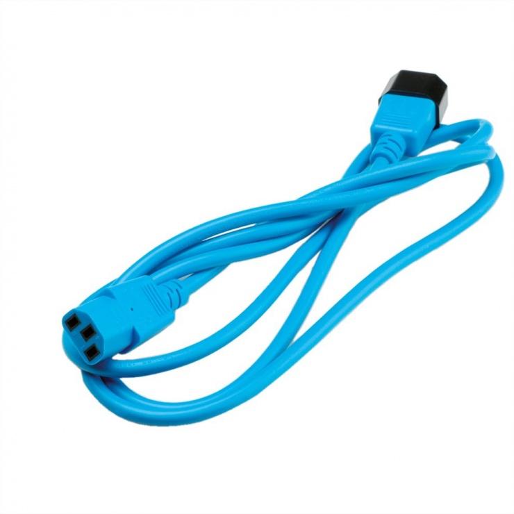 Imagine Cablu prelungitor PC C13 la C14 1.8m Albastru, Roline 19.08.1522-2