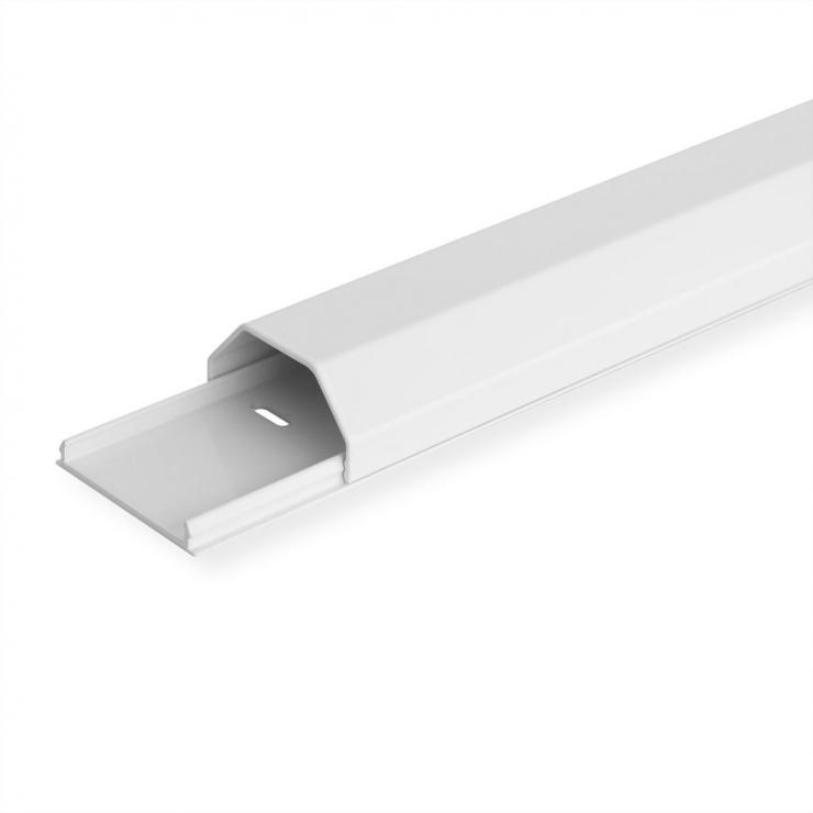 Imagine Organizator canal cablu aluminiu 50x26x110mm Alb, Roline 19.08.3111