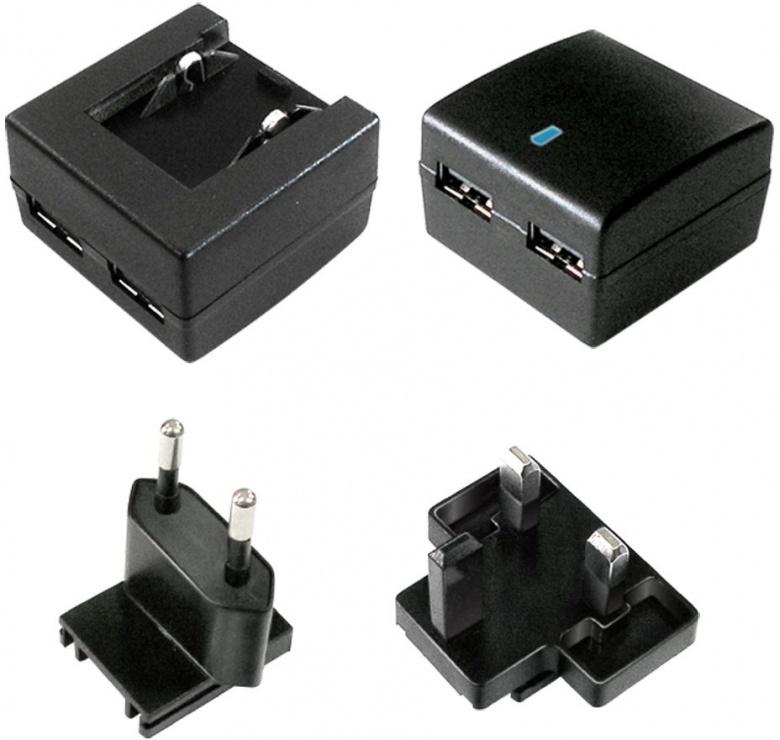 Imagine Incarcator priza cu 2 x USB + adaptor UK, 10W/2A, Value 19.99.1061