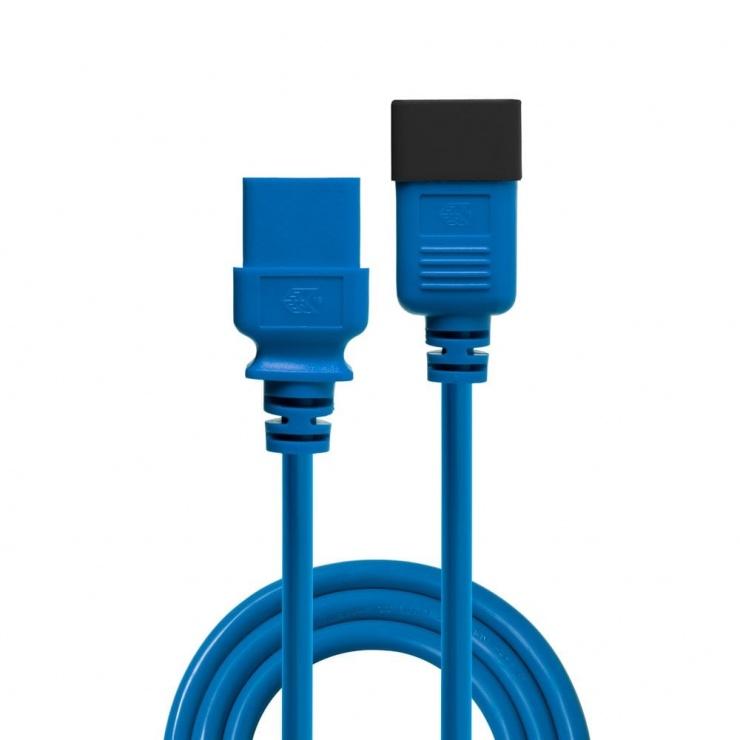 Imagine Cablu de alimentare IEC C19 la C20 1m Albastru, Lindy L30120