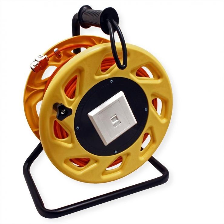 Imagine Rola cablu de retea Cat.6A S/FTP 60m, Roline 21.15.0007-1