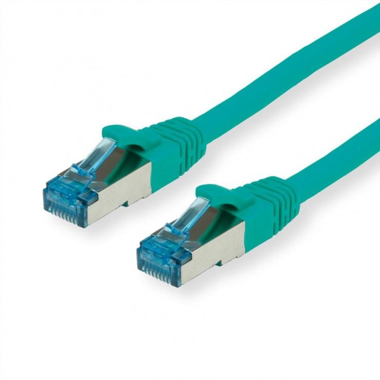 Imagine Cablu de retea SFTP cat 6A 0.3m Verde, Value 21.99.1944