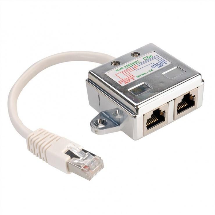 Imagine Adaptor RJ45 in Y ecranat Cat 5e, Value 21.99.3050