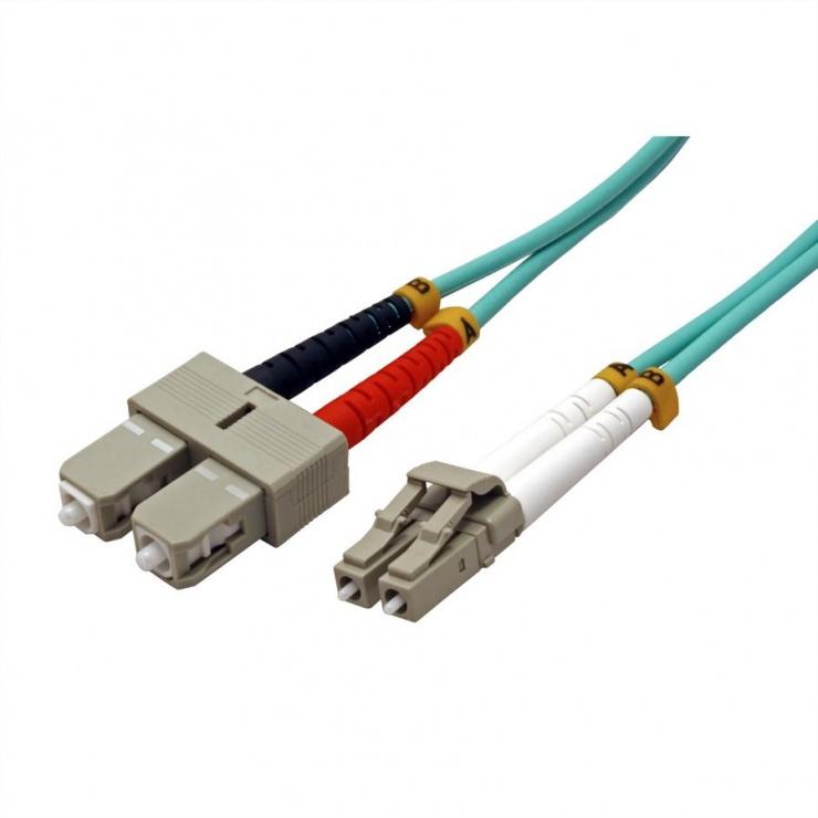 Imagine Cablu fibra optica LC-SC OM3 duplex multimode 1m, Value 21.99.8711-1