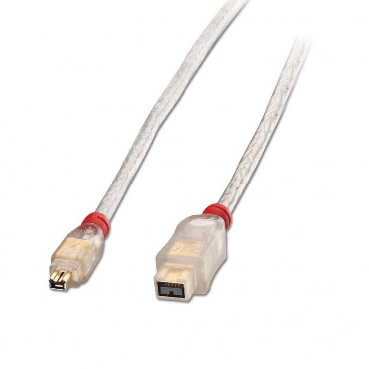 Imagine Cablu Premium FireWire 800 9 pini la 4 pini 25m, Lindy L30793