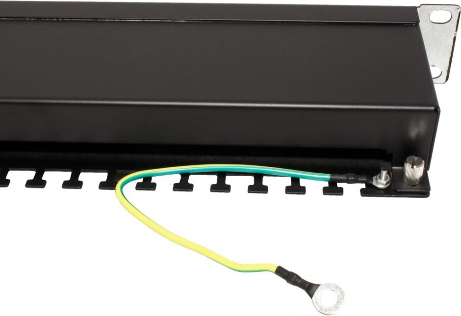 Imagine Patch Panel STP Cat.5e 24 porturi, ecranat, negru, Value 26.99.0328-2