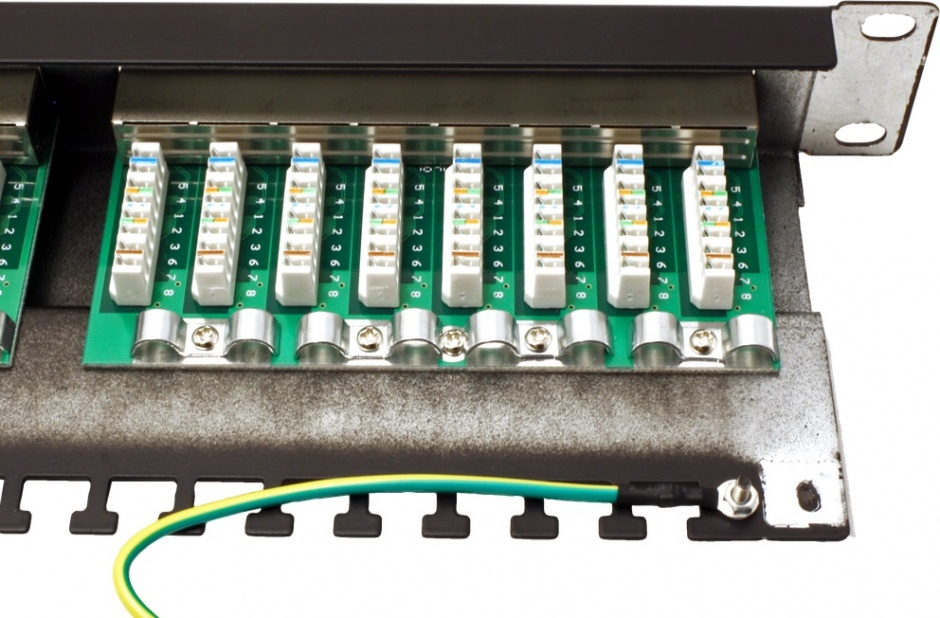 Imagine Patch Panel STP Cat.5e 24 porturi, ecranat, negru, Value 26.99.0328-1