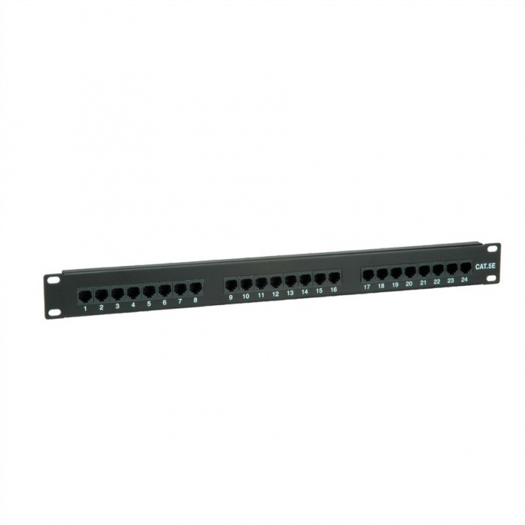 Imagine Patch Panel UTP Cat.5e 24 porturi, negru, Value 26.99.0349