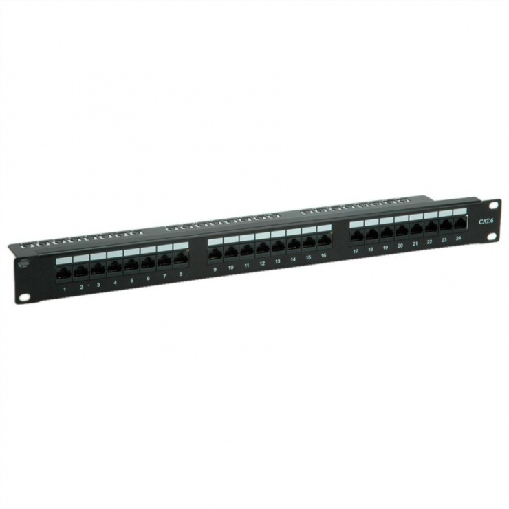 Imagine Patch Panel Value UTP Cat.6, 24 porturi, negru, 26.99.0362