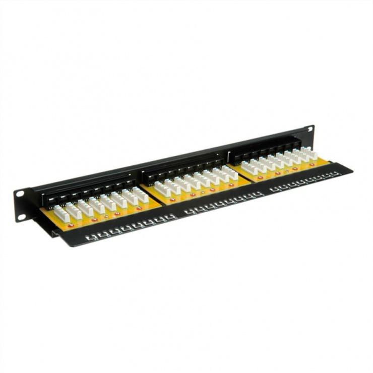 Imagine Patch Panel Value UTP Cat.6, 24 porturi, negru, 26.99.0362-2