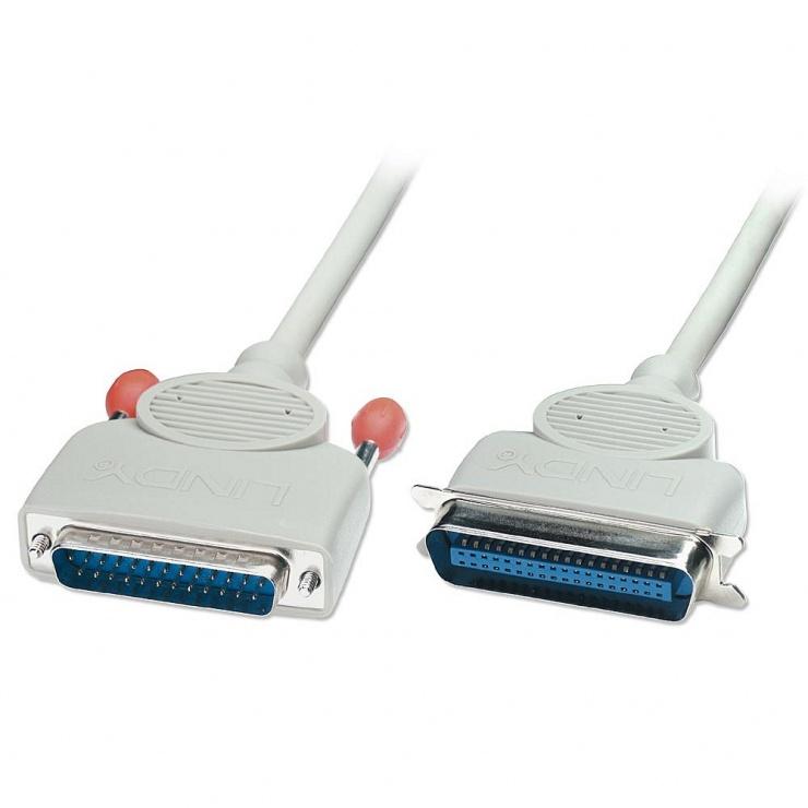 Imagine Cablu bidirectional pentru imprimanta paralel DB25M/C36M 2m, Lindy L31304