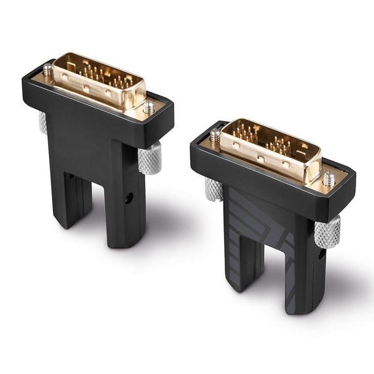 Imagine Cablu micro HDMI v2.0 4K60Hz Fibra optica Hybrid HDR - conectori HDMI, DVI detasabili T-T 30m, Lindy