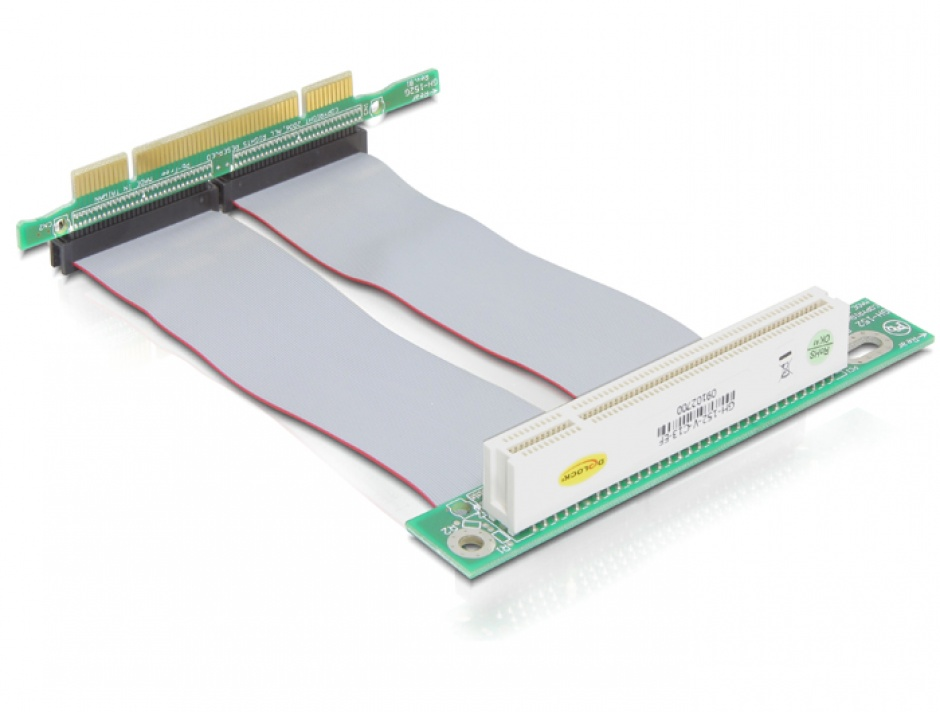 Imagine Riser card PCI angled 90 left insertion with 13 cm cable, Delock 41779
