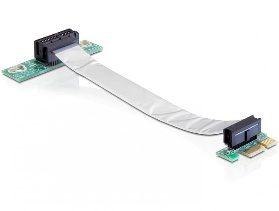 Imagine Placa PCI Express x1 cu cablu flexibil stanga, Delock 41839