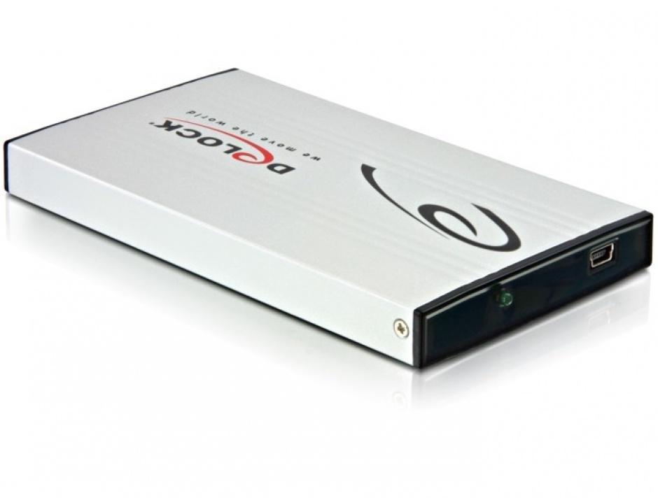 "Imagine Rack Extern HDD SATA 2.5"" la USB 2.0, Delock 42467"