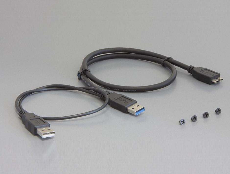 "Imagine Rack HDD Extern 2.5"" USB 3.0 la SATA/IDE, Delock 42494"