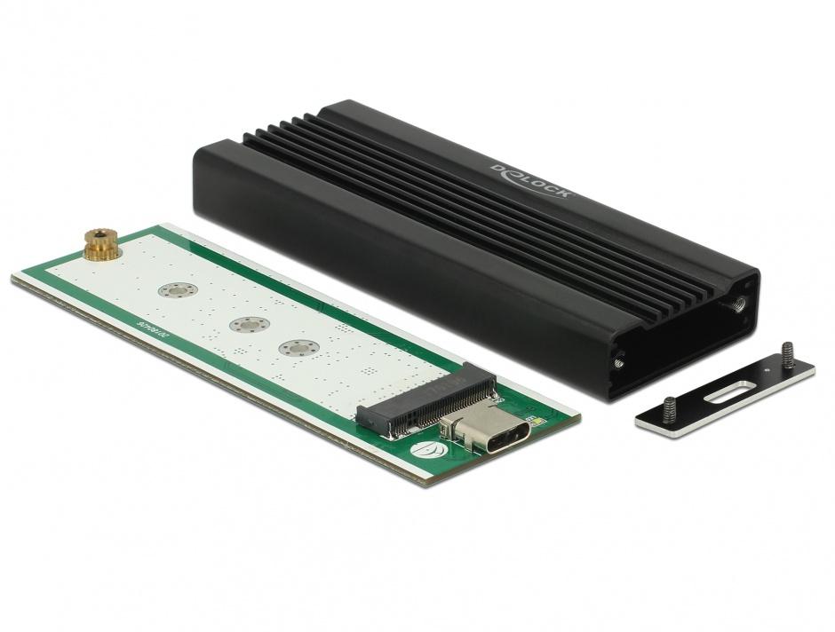 Imagine Rack extern pentru M.2 NVMe PCIe SSD la USB-C 3.1 Gen 2, Delock 42600