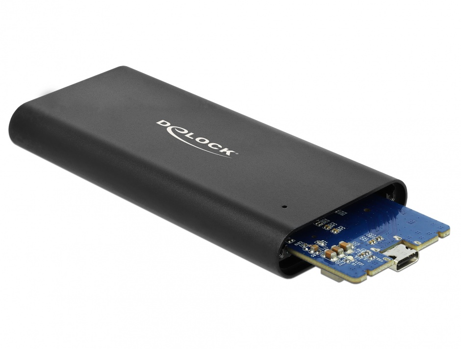 Imagine Rack extern USB 3.1 Gen 2-C pentru M.2 NVMe PCIe SSD, Delock 42614