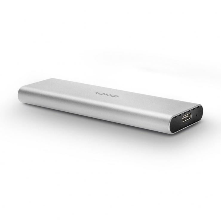 Imagine Rack extern USB 3.1 pentru NVMe M.2 SSD, Lindy L43095-1