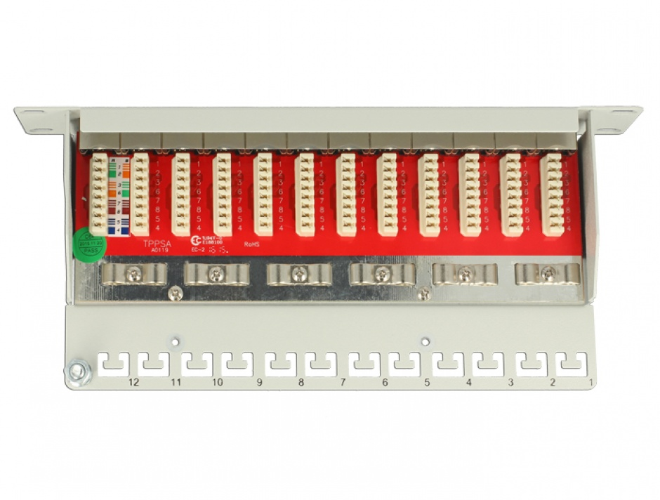 "Imagine Patch Panel 10"" 12 porturi Cat.6A negru, Delock 43310"