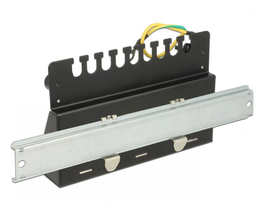 Imagine Patch Panel montare desktop pentru keystone 12 porturi negru, Delock 43339