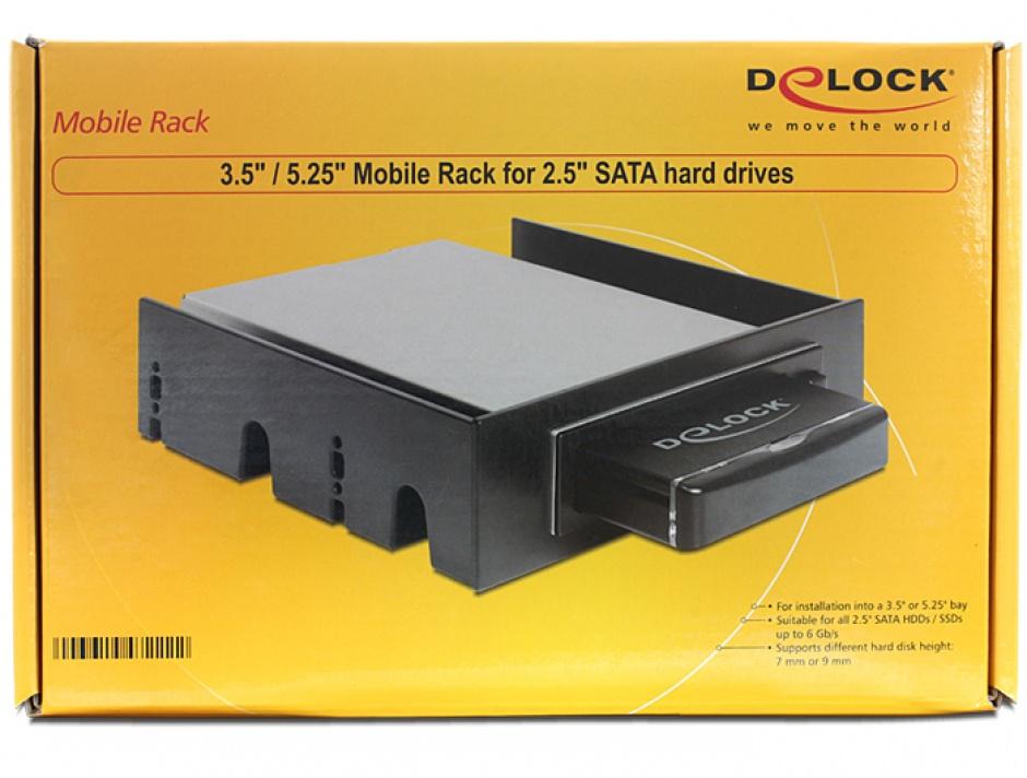 "Imagine Rack mobil 3.5""/5.25"" pentru HDD SATA 2.5"", Delock 47222"