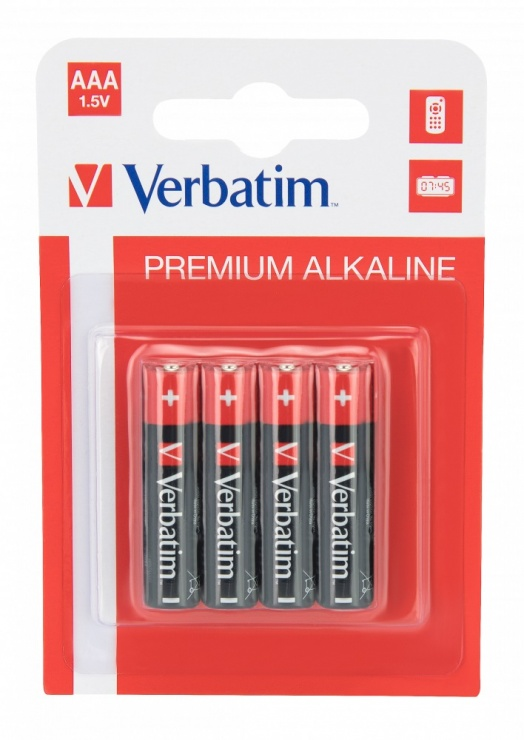 Imagine Set 4 buc baterii Verbatim AAA LR3 alkaline