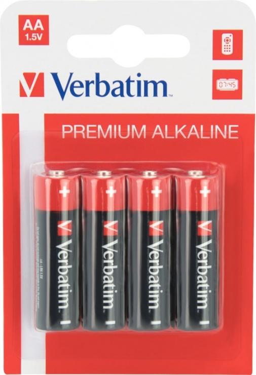 Imagine Set 4 buc baterii Verbatim AA LR6 ALKALINE 4buc/set