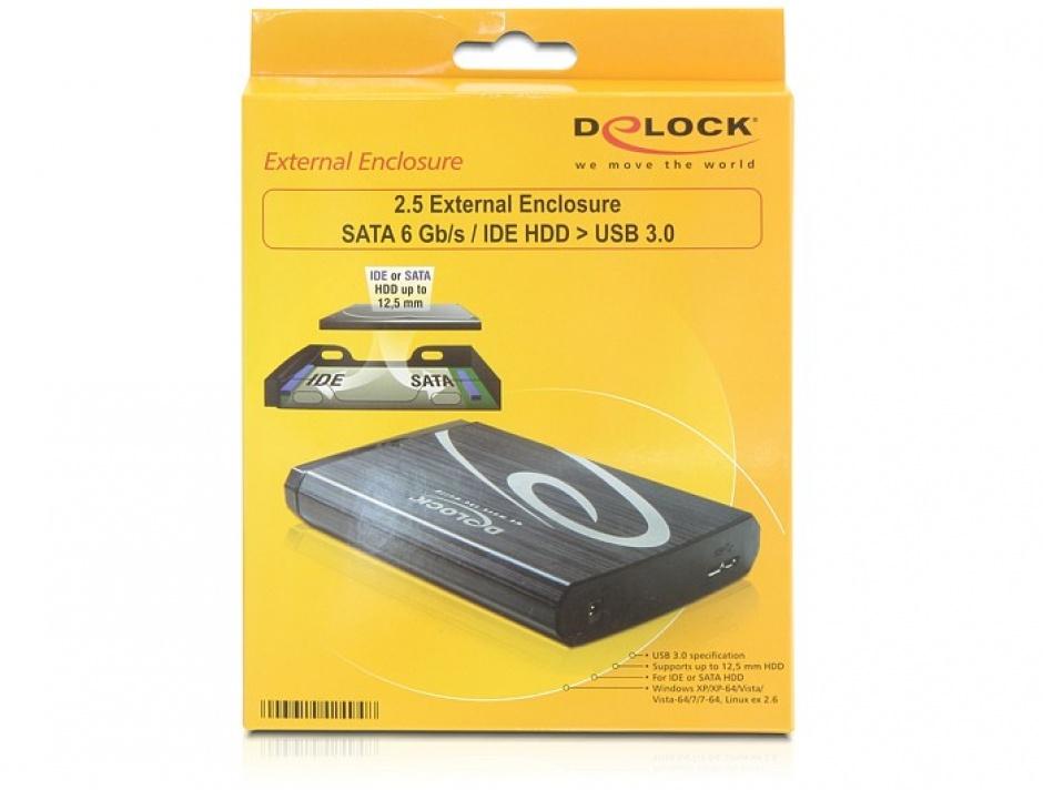"Imagine Rack HDD Extern 2.5"" USB 3.0 la SATA/IDE, Delock 42494-5"