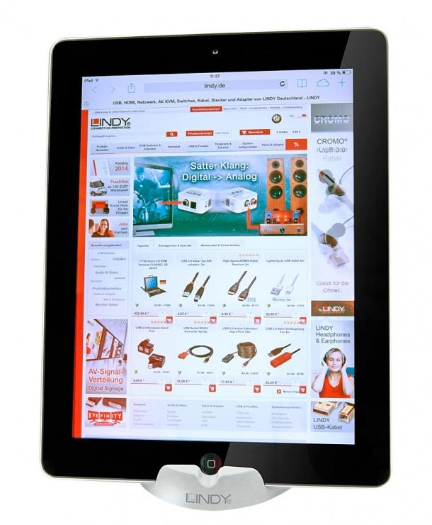 Imagine Stand din silicon pentru tableta/smartphone Alb, Lindy L54006