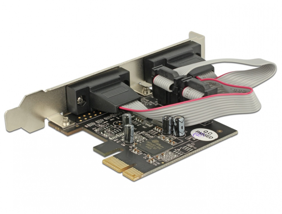 Imagine PCI Express la 2 x Serial RS232, Delock 89220-2