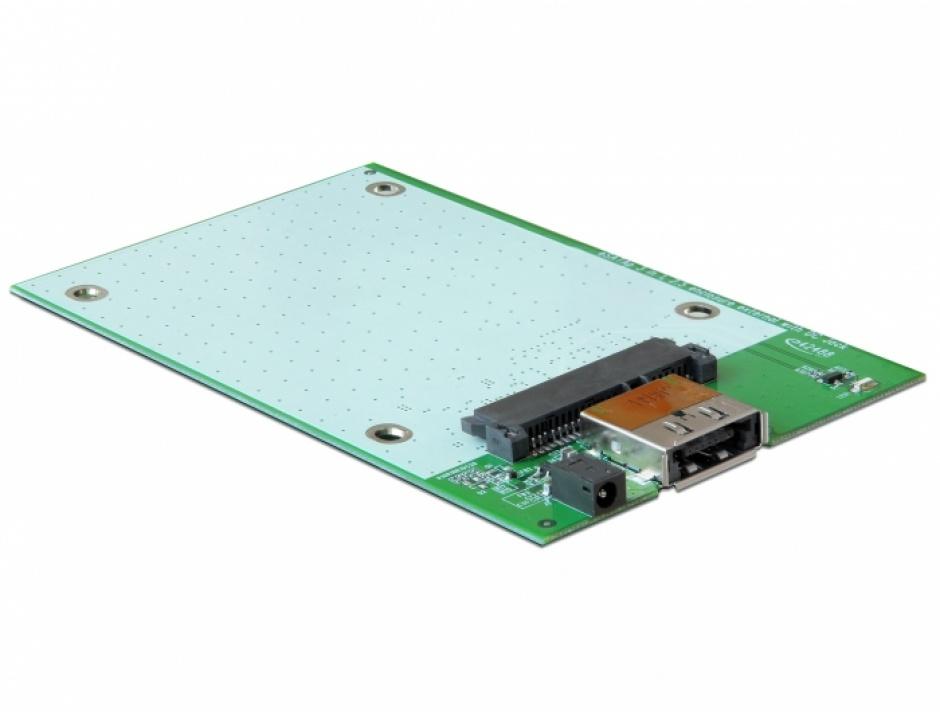 Imagine Rack extern 2.5 inch HDD SATA la Multiport USB 3.0 + eSATAp, Delock 42492-3