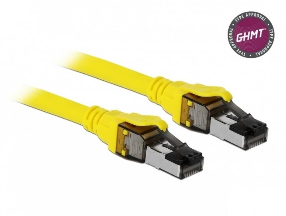 Imagine Cablu de retea RJ45 Cat.8.1 S/FTP 3m, Delock 86583