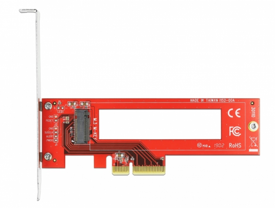Imagine PCI Express cu un slot M.3 / NF1 LPFF, Delock 90401-1