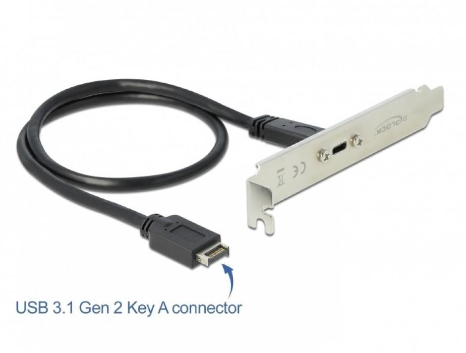 Imagine Bracket cu 1 x USB-C 20V/3A, Delock 89936-1