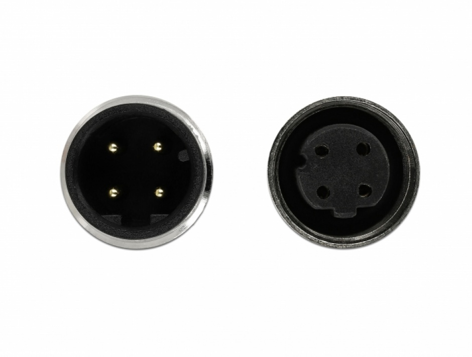 Imagine Cablu de retea M12 4 pini D-coded TPU 2m, Delock 85434-2