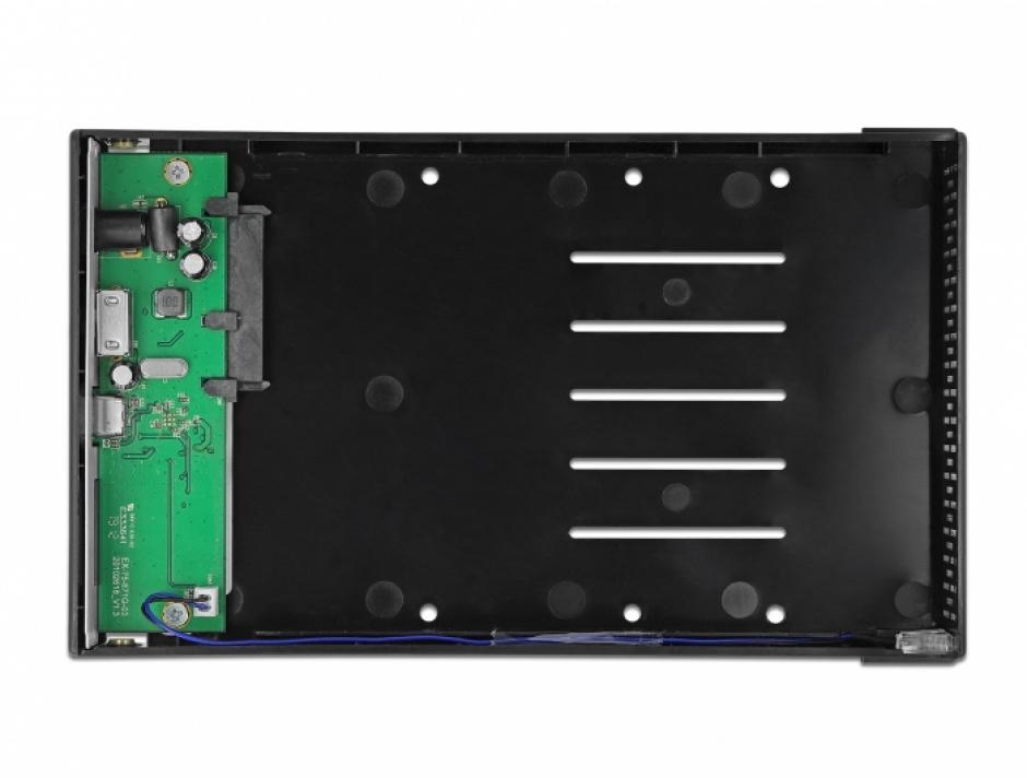 "Imagine Rack extern USB 3.1-C pentru 3.5"" SATA HDD, Delock 42627"