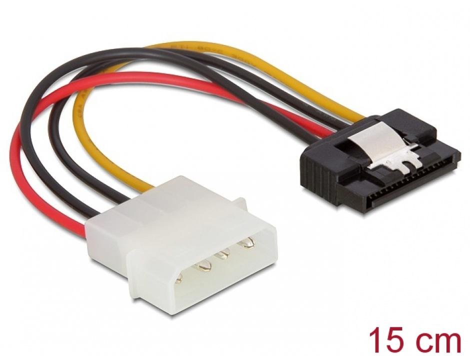 Imagine Cablu alimentare Molex la SATA cu fixare, Delock 60120