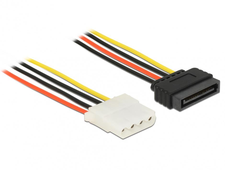 Imagine Cablu de alimentare SATA la Molex T-M 30cm, Delock 60139