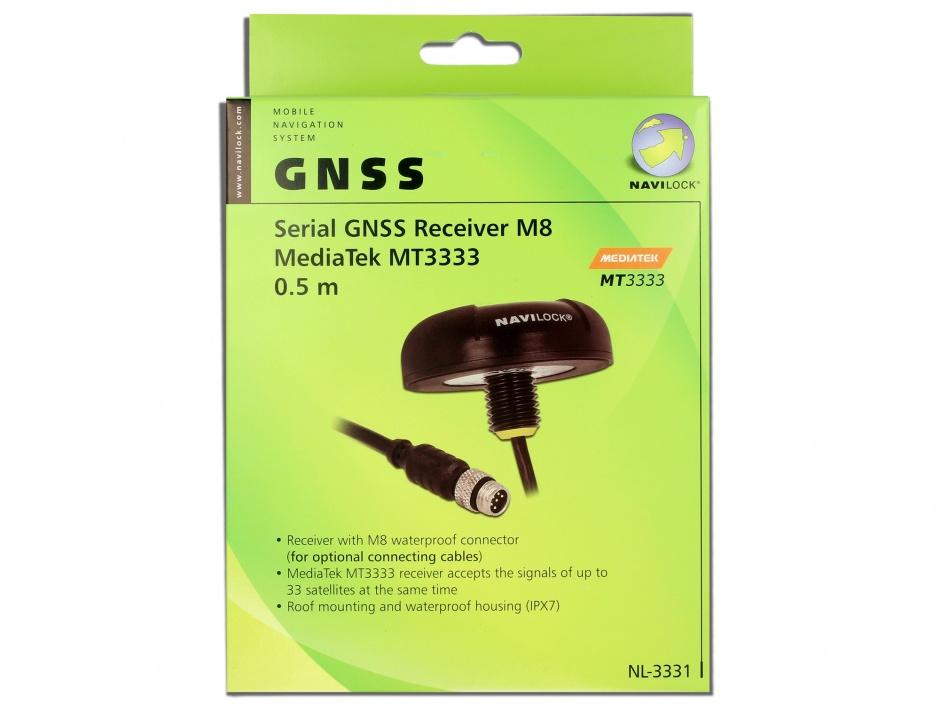 Imagine NL-3331 M8 Serial Multi GNSS Receiver MT3333 0.5m, Navilock 60326